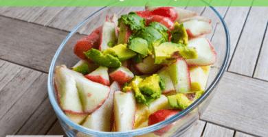 Ensalada de aguacate y manzana