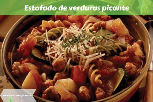 Estofado de verduras picante