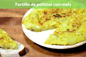 Tortilla de patatas con maíz
