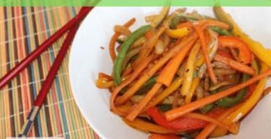 Verduras estofadas con salsa de soja