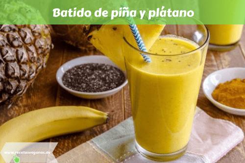Batido de piña y plátano